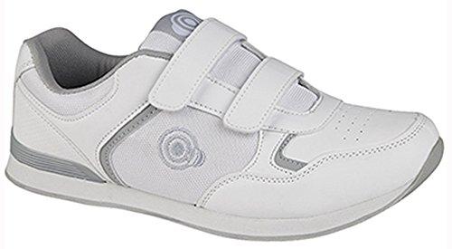 Dek Herren Bowling- & Kegelschuhe 36 2/3, White - Velcro (Mens) - Größe: 45 EU
