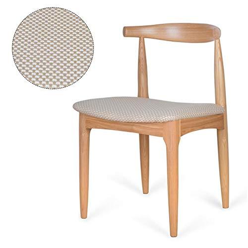 Chaises CJC Naturel Solide Bois Jambes avec Coussinée Tampon Contemporain Designer pour Bureau Salon Salle à Manger Cuisine Salle à Manger (Couleur : T5, Taille : Wood Color Leg)