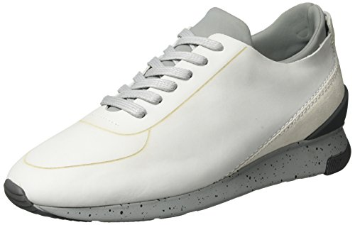 H.D. Hudson Mfg Co. Sime Nubuck 43, chaussons d'intérieur homme Weiß (white)
