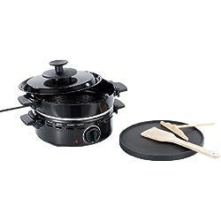 Rosenstein & Söhne Maroniofen: 4in1-Maroni-Ofen, Grill, Kaffeeröster, Crêpes-Eisen (Maroni Maschine)