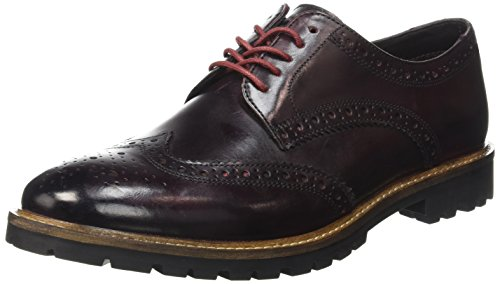 Base London Herren Trench Schnürhalbschuhe Braun - Marron (Washed Bordo)