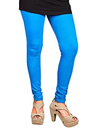 CAY 100% Cotton Sky Blue Color Plain, Stylish & Most Comfortable Legging For Girls & Women with Full Length (FREE SIZE)