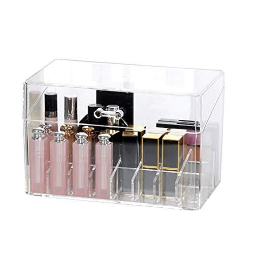 Shypt organizer per il trucco - custodia in acrilico con cassetto, contenitore per gioielli, contenitore per gioielli, salvaspazio, ideale per rossetti, fodere, spazzole