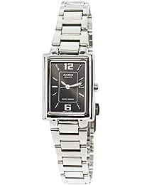 Casio LTP-1238D-1A - Reloj para mujeres, correa de acero inoxidable color