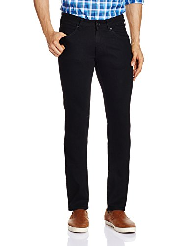 Wrangler Men's 7 Icon Classic Slim Fit Jeans (8907222652333_W15242W22485_36W x 33L_Rinse Black)  available at amazon for Rs.1817
