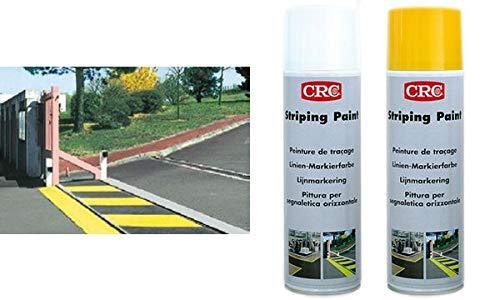 CRC 11668 Striping Paint Markierfarbe, weiá, 500 ml Spraydose (Striping Paint)
