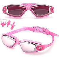 Gafas de natación,Gafas para Nadar Antiempañado y Anti Rayos UV Para Hombres Mujeres Adultos Jóvenes Niños - Lo Mejor Para Hombres, Mujeres, Niños - Ideal para Todo Tipo de Agua, Piscina, Deportes Acuáticos - rosa