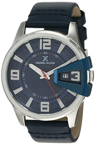 Daniel Klein Analog Blue Dial Men's Watch-DK12161-6