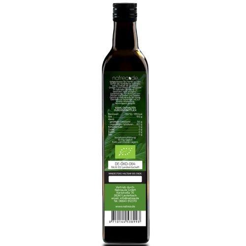 Natrea Bio Hanföl rein nativ | kaltgepresst aus 1. Pressung ✔ 100% reines BIO-Öl ✔ in 250 ml Lichtschutzflasche (1 x 0,25 l) - 2