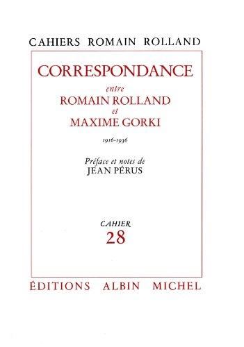 Correspondance entre Romain Rolland et Maxime Gorki (1916-1936) : Cahier nº28