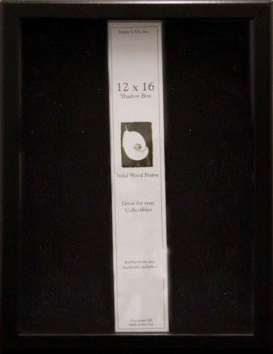 12x16 Shadow Box, Showcase Series (Black) by Frame USA - Serie Black Frame