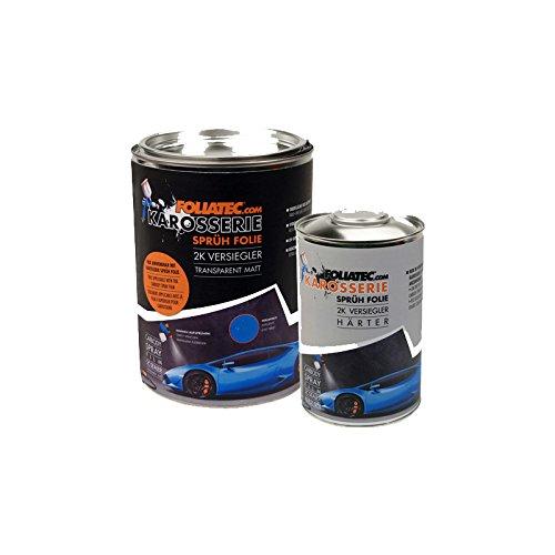 Foliatec F20985 Carbody Spray Film (Sprühfolie) Versiegler-Klar Matt-2 x Sealer + 1 x 1L Härter Klar-spray-farbe Sealer
