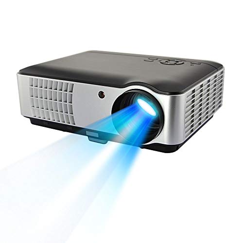 MYRA® M06 LED Projector with Android Wi-Fi, Bluetooth, Native 1200*800, 2800 Lumens Full HD Play 1080P, Support Red & Blue 3D