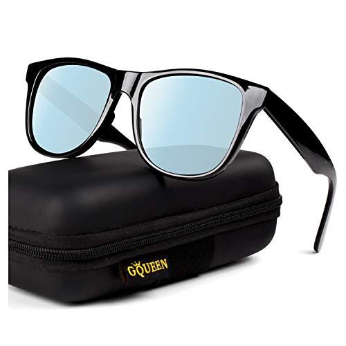 GQUEEN Klassische Sonnenbrille Herren Polarisiert Herren Damen Sonnenbrille TR90 UV400 Schutz MFZ1