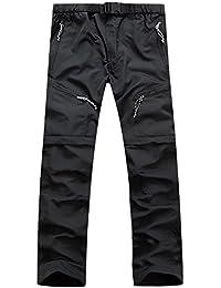 AIEOE Pantalones para Montaña Desmontable Unisex Pantalón Técnico Outdoor  Senderismo Softshell Trekking Pants de Multibolsillos con 222ffd3fd6b4