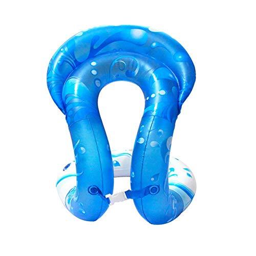 Schwimmwesten Schwimmhilfe - Schwimmweste zum Aufblasen für Kinder und Erwachsene   Schwimmtrainer, aufblasbar   3 Größen? PVC Schwimmhilfen für Beach (Blau,S) -