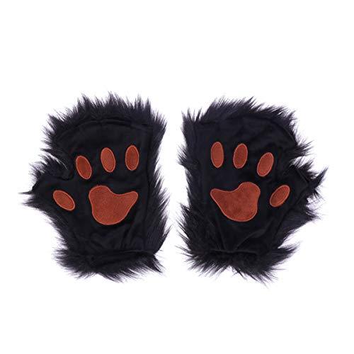 Amosfun bär handschuhe halloween kunstpelz tierhandschuhe tatzen handschuhe - Bruder Und Schwester Bär Kostüm
