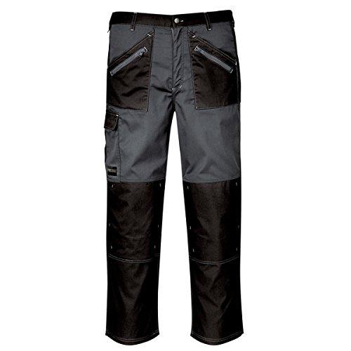 PORTWEST KS12 Pantalon Chrome, L, noir/gris
