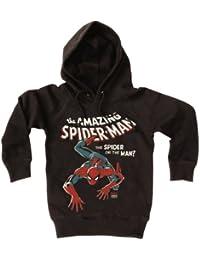 Sweatshirt à capuche Spider-Man - l'Homme Araignée - Pull-over à capuche Marvel Comics - noir - Design original sous licence - LOGOSHIRT