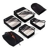 6-Teiliges Reiseorganizer Set | Packtasche Inkl. Wäschebeutel, Schuhbeutel, Aufbewahrungstasche, Packbeutel und Kleidertasche | Ultraleicht | Für Koffer, Handgepäck und Reisetaschen | Von Blumtal