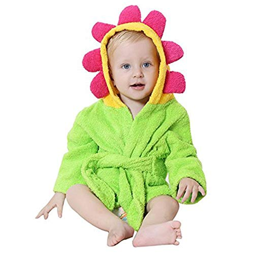 Emmala Bad Badetuch Kinder Baby Boys Casual Chic Girls Badetücher Mit Tierultraweiche Decke 0 3 Jahre Alt 45X25Cm (Grün) (Color : Grün, Size : Size) -