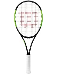 Wilson Blade 101L Raqueta de Tenis, Unisex Adulto, Negro / Verde Lima (Black Velvet / Electric Lime), 3
