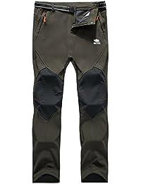 Los pantalones al aire libre de los hombres que son de fleece impermeable de c¨