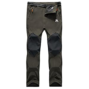 41JM R6B98L. SS300  - PECTNK Mens Outdoor SoftShell Trousers Polar Fleece Transparent Waterproof Membrane