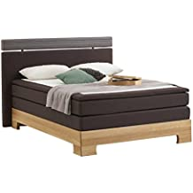 Atlantic Home Collection WOODY Boxspringbett Stoff, Liegefläche 140 x 200 cm,  braun