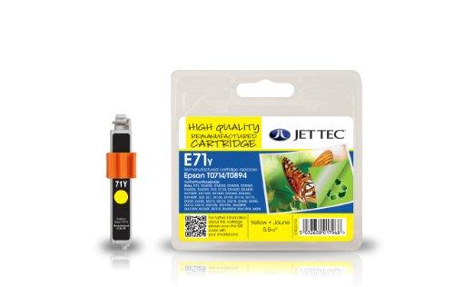 Preisvergleich Produktbild Jet Tec C13T07144010 Epson T0714/T0894 In England hergestellte Wiederaufbereitete Tintenpatrone, gelb