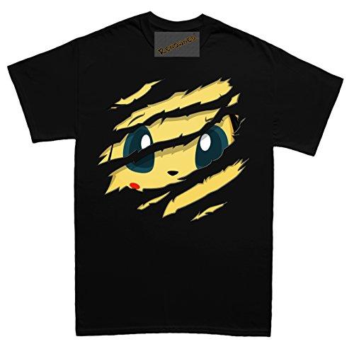 Cute Electric Bunny Torn inside my chest Unisex - Kinder T Shirt - Schwarz - 12-13 Jahre