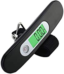 Idea Regalo - Travel Buddy Luggage Scale LS2 2017 - Portable Digital Travel Suitcase Scale with Buckle Strap - High Accuracy - 110lb/50KG Capacity (Black)