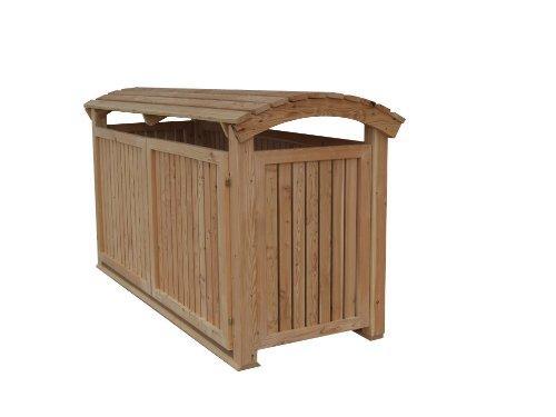 Abfalltonnenverkleidung Holz, Modell Mailo, für drei 240 Liter Mülltonnen, geölt