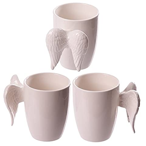 fantaisie en céramique Blanc Ailes d'ange Mug