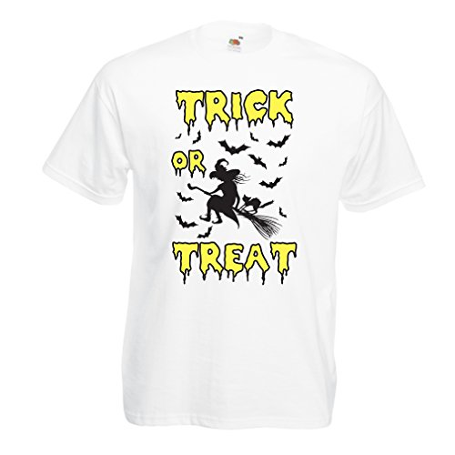 hirt Trick or Treat - Halloween Witch - Party outfites - Scary costume (Large Weiß Mehrfarben) (Gruseligsten Halloween-film)