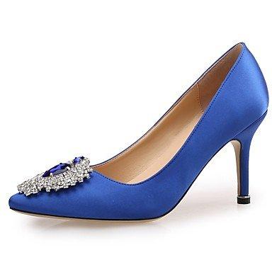 Sanmulyh Femmes Paillettes Scintillantes Paillettes Printemps Automne Dans Confort Talon Talon Stiletto Toe Strass Pour La Fête De Mariage Et Le Soir. Bleu