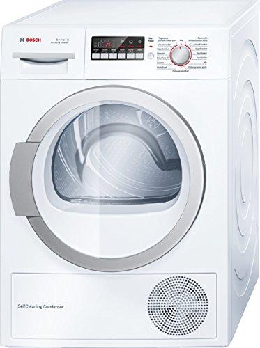 Bosch WTW86271 Sèche-linge à pompe à chaleur - Efficacité énergétique A++ - Capacité 8 kg - Blanc - Condensateur autonettoyant