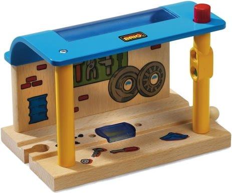 Brio - 33765 - Circuit de train en bois - Atelier de réparartion smart track