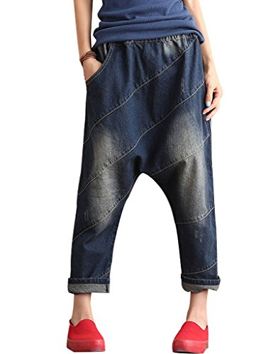 Youlee Donne Alto Vita Crotch Goccia Jeans Fit EU 34-44
