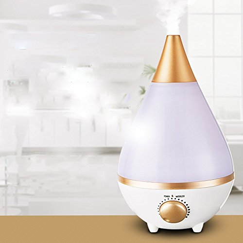 DJJHK Large capacity home quiet aroma humidifier mini creative bedroom colorful night light ultrasonic atomizer,Golden,One size