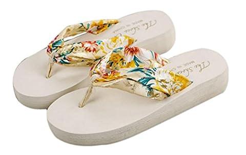 Westeng Summer Women Ladies Sandals ,1 Pair Bohemia Floral Beach