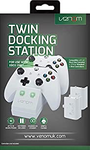 Venom Twin Docking Station with 2 Rechargeable Battery Packs for Xbox One - White