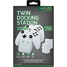 Venom Xbox One Twin Docking Station with 2 x Rechargeable Battery Packs: White (Xbox One)