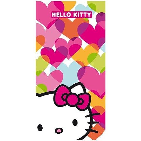 Cti 041400 Toalla de Playa Hello Kitty Mimi Love, Terciopelo de Algodón, 75 x 150 cm