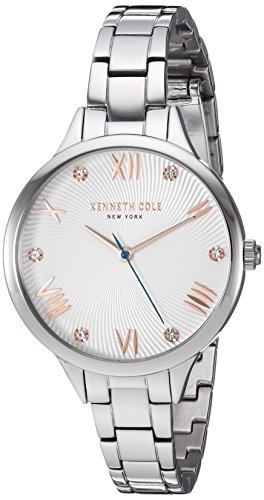 Kenneth Cole New York Womens Analog-Quartz Watch with Stainless-Steel Strap KC50197003