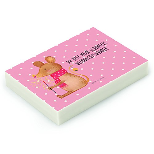 Mr. & Mrs. Panda Radiergummi Weihnachtsmaus - 100% handmade in Norddeutschland - Mäuschen, Maus,...