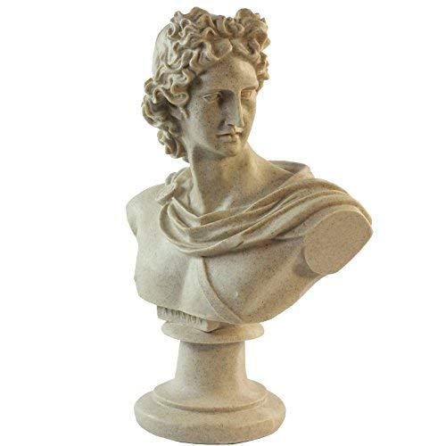 GOLDBEARUK Estatua Busto Dios Griego Romano - Apollo
