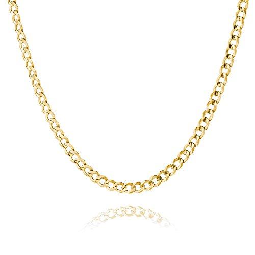 STERLL Herren Hals-Kette Gold Beschichtet 60cm Ohne Anhänger Geschenkbox Geschenke für Männer Gold Hals