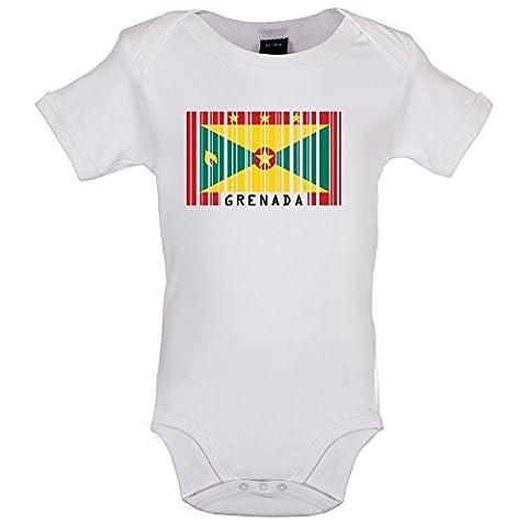 Grenada Barcode Flagge - Lustiger Baby-Body - Weiß - 12 bis 18 Monate (George Englische Flagge)