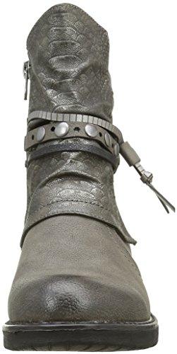 Tom Tailor 1695612, Stivali da Motociclista Donna Grigio